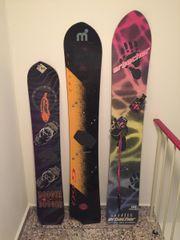 Snowboards 3 Stück Mistral 160