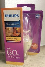 warmglow 8718696555972 2200-2700K Philips LED WarmGlow Lampe ersetzt 60 W dimmbar Kerze 806 Lumen E14