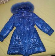 Mädchen Winterjacke mit echten Fell