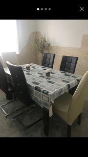 Esstisch ohne Stühle Glastisch