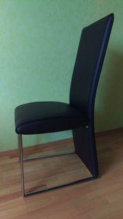 Esszimmerstühle aus schwarzem