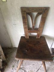2 Antike Stühle bäuerliches Biedermeier