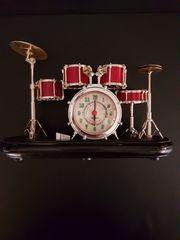 Schlagzeug Drummer-Uhren-Wecker Rarität