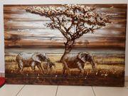 Bild aus Holz und Metal