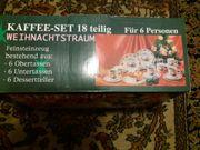 Kaffeeservice mit Weihnachtsmannmotiven