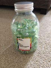 Grün-transparente Deko-