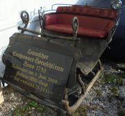 Einspanner Pferde-Hornschlitten Anno 1750