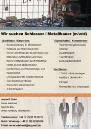 Wir suchen Schlosser Metallbauer m