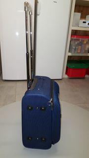 Trolley blau 2 Rollen Koffer