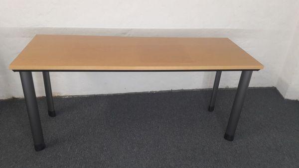 Büromöbel Schreibtisch Haworth Echtholz Buche 120x80 Mulitplex in ...