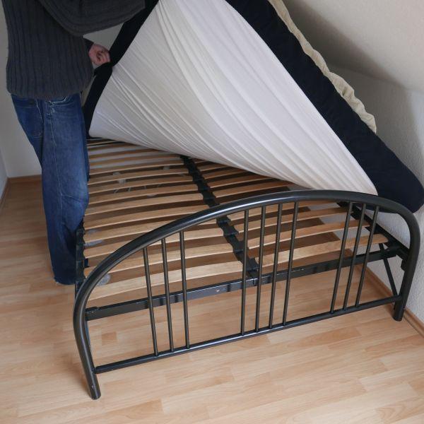 bett 140x200 schwarz gebraucht kaufen 4 st bis 65 g nstiger. Black Bedroom Furniture Sets. Home Design Ideas