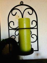 Nostalgischer Kerzen Wandhalterung aus Eisen