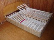 Doppelbett mit Lattenrost zu verschenken