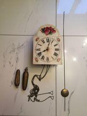Rosenblatt - Uhr antik um 1850
