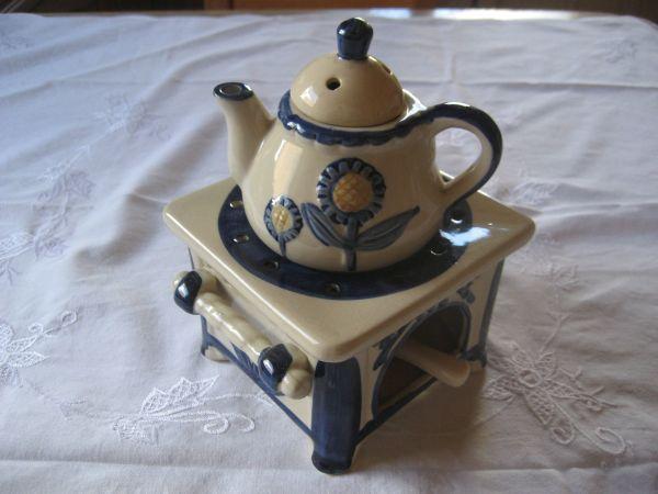 Stövchen kleine Teekanne Teelicht Kerze