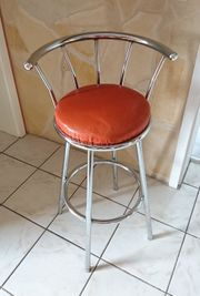Hocker Stuhl Stahrohr chrom drehbar