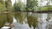 Teichanlage an der B25 gelegen
