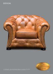 Golden Oak Leder Sessel Devon