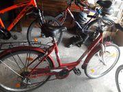 Mädchen Fahrrad rot