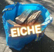 1 Tragetasche voll Brennholz Eiche