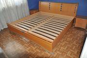Buche Doppelbett mit 2 Lattenrosten