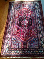 handgeknüpfter Perserteppich Hamadan 135x87cm Flor