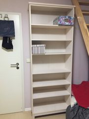 IKEA Bücherregal Massivholz weiß lasiert