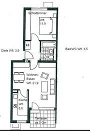 Provisionsfreie 2-Zimmer-Terrassenwohnung in Unterhaching zu