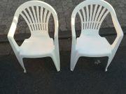 2 Garten Stühle