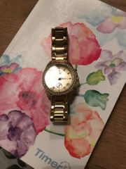 Fossil Uhr in Gold