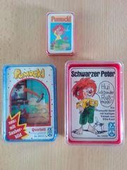 Drei Pumuckl-Kartenspiele Vintage ungespielt