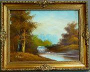 Gemälde Ölgemälde Gebirgslandschaft (