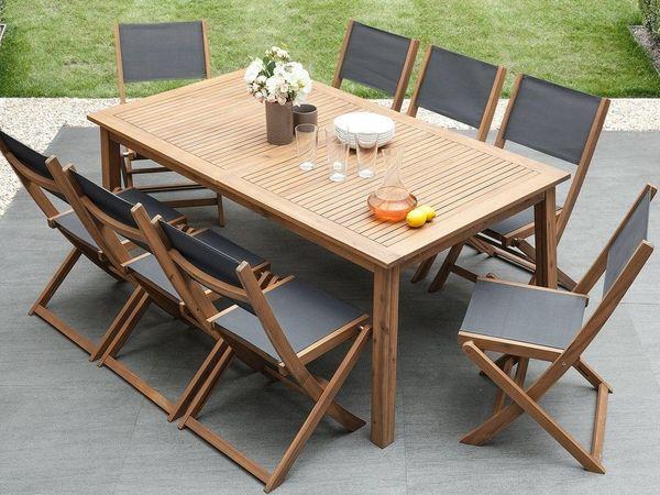 Gartentisch holz  Gartentisch Holz 180/240 x 100 cm ausziehbar CESANA. Beliani in ...
