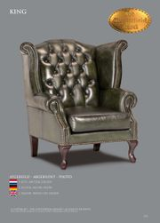 Antikgrüner Leder Chesterfield King Sessel