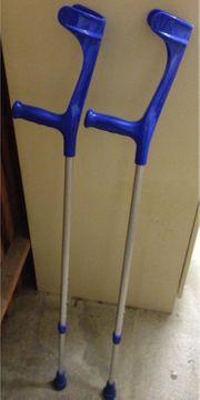 Krücken 1 Paar Alu - blau