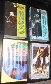 4 original-Musik VHS- Kassetten aus