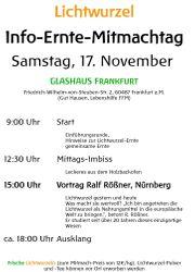 Lichtwurzel-Ernte-Info-Mitmachtag 17 November 2018 9 -