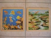 2 Holz Puzzles mit 25