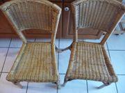 Stühle aus Korbgeflecht
