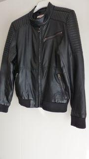ESPRIT Kunstlederjacke schwarz Gr 152