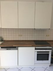 Küche weiß mit Elektrogeräte zum