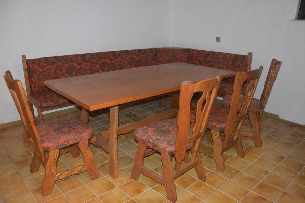 Tisch / Esstisch Eckbankgruppe Eiche Rustikal Inklusive 4 Stühle, Gebraucht  Gebraucht Kaufen 64354 Reinheim