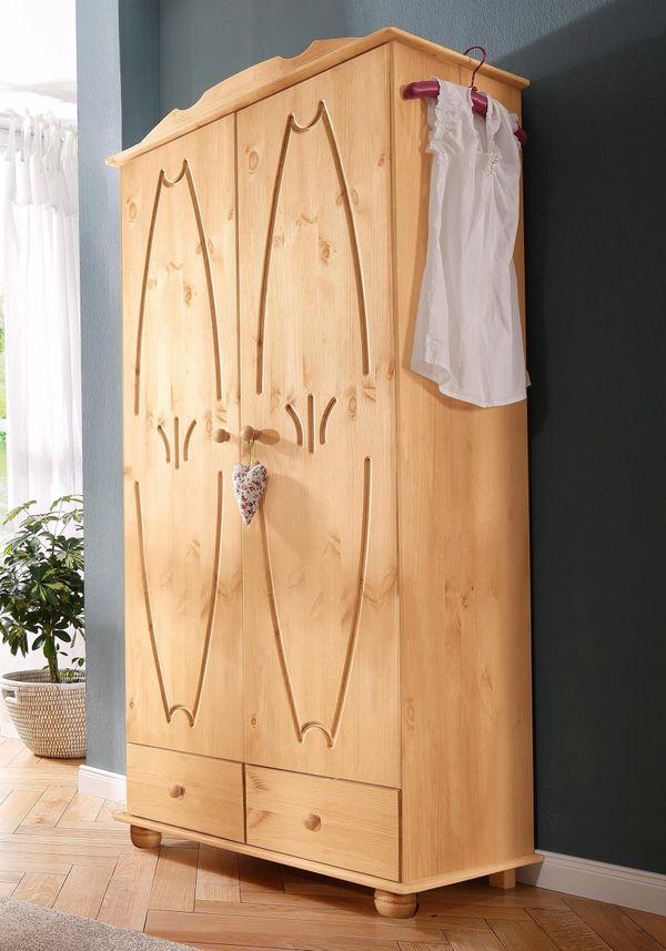 Neu Kleiderschrank Melody 2 Türig Massiv Holz Schlafzimmer Schrank