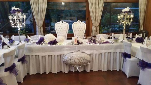 Hochzeitsdeko Hochzeitsservice Kerzenleuchter Stuhlhussen Verleih In