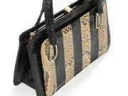 ORIGINAL VINTAGE Antike Luxus-Tasche Echtleder