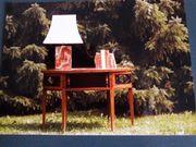 Biedermeier Tisch Sekretär Damentisch Oval