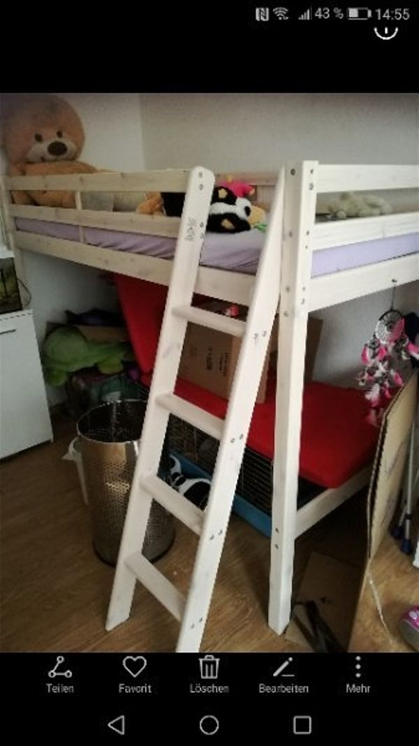 hochbett matratze gebraucht kaufen nur 4 st bis 75 g nstiger. Black Bedroom Furniture Sets. Home Design Ideas