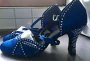Tanzschuhe blau Gr 39 ungetragen