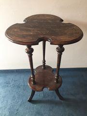 Tischchen Beistelltisch antik Telefon oder