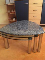 Hochwertiger Granit Glas-Couchtisch Wie neu